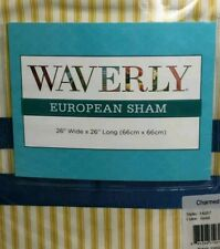 New! WAVERLY Euro european Shams  CHARMED GARDENIA blue yellow