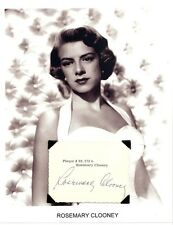 Rosemary Clooney Autograph Come On a My House Botch a Me Mambo Italiano Tenderly