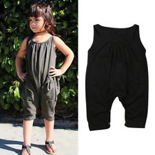 Sleeveless Solid Fashion Baby Rompers - Black (XYG062075)