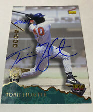 Torii Hunter Signed Rookie Card # 50 Certified Auto Autographed Signed Twins MLB