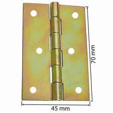 50 Gerollte Scharniere Schmale Möbelscharniere 70 x 45 mm Gelb Verzinkt