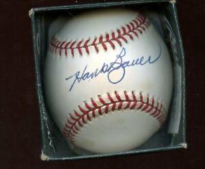 Hank Bauer Single Signed OAL Budig Baseball