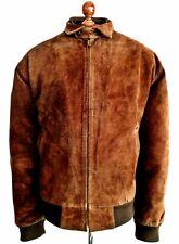 Suede Leather RALPH LAUREN POLO RRL Harrington Biker Bomber Flight Jacket Coat