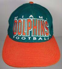Vintage 1990s MIAMI DOLPHINS NFL Football APEX Snapback Cap Hat DAN MARINO ERA