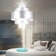 LED ALU Pendel Lampe Hänge Leuchte Lüster Design Licht Beleuchtung silber EEK A+