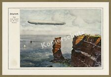 "M. Zeno Diemer Heligoland ZEPPELIN LZ 11 ""Viktoria Luise"" North Sea Aviation 1912"