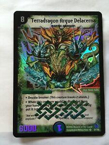 DM-12 S1/S5 Terradragon Arque Delacerna Duel Masters Thrash Hybrid Megacreatures