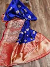 Sari Soft Silk Indian Saree Rich Look Wedding Party wear Designer Traditional