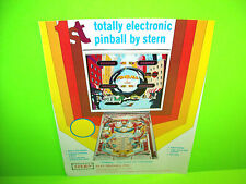 Stern PINBALL 1977 The 1st Electronic Flipper Pinball Machine Promo Sales Flyer