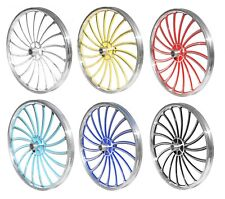 "Brand New BMX 20"" Full Aluminium Front & Rear Wheel Set - 6 Colours"