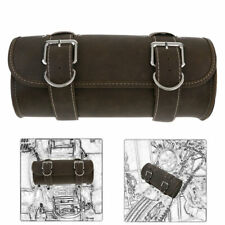 Motorcycle Front Fork Tool Bag Pouch Luggage SaddleBag Leather For Sportster 883