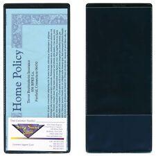 StoreSMART Black Plastic Insurance Policy Holders w card holder 10Pk INS30-BK-10