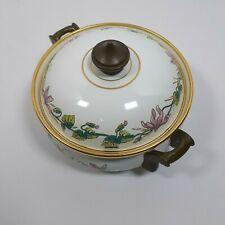 """New ListingAsta 7"""" Casserole Pot Lid Amsterdam German Enamel Cookware Dutch Oven Brass"""
