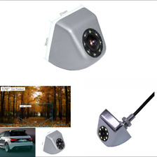 Waterproof 8LED Chromed Metal Automobile Reversing Backup HD Camera Night Vision