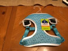 Top Paw Comfort Harness - Blue Geometric Design - Reflective - Medium