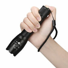 T6 Zoomable 10000Lumens XM-L Tactical military LED 18650 Flashlight Torch Lamp