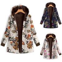 Damen Herbst Winter Vintage Jacke Parka Kurzmantel mit Kapuze Mantel S-5XL BC819