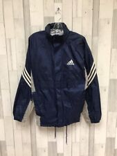 Vintage Adidas Windbreaker Light Jacket Size Small Blue