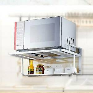 Microwave Oven Stand  Mounted Shelf Kitchen Organizer Storage Wall Mount 2 Tier