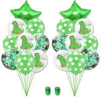"""12"""" Baby Shower Party Favour Dinosaur Balloons Latex Kids Bunting Birthday3C"""