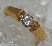 ►Solitärringe Brillantringe aus Gold Ring Brillant Ring mit Diamant Solitär Ring