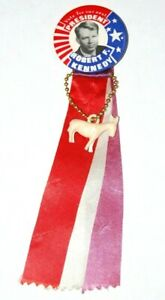 1968 ROBERT KENNEDY BOBBY RFK campaign pin pinback button ribbon charm political