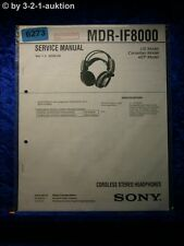 Sony Service Manual MDR IF8000 Cordless Headphones (#6273)