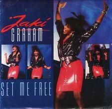 """JAKI GRAHAM set me free/stop the world JAKI 7 uk emi 1986 7"""" PS EX/VG"""