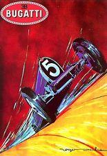 Art Deco Poster Bugatti   Print