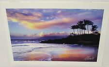 """MONICA & MICHAEL SWEET """"PARADISE"""" HAND SIGNED OCEAN COLOR PHOTOGRAPH"""