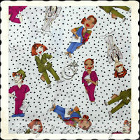 BonEful Fabric FQ Cotton Quilt Loralie Nurse Dr B&W Scrub Top Uniform B&W Dot US