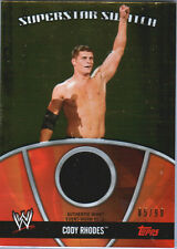 WWE Cody Rhodes 2010 Topps GOLD Superstar Swatch Relic Card SN 85 of 99