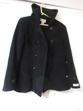 Cashmere Blend Double Breasted Hooded PEACOAT Size M by St. Johns Bay
