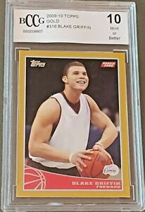BLAKE GRIFFIN Nets 2009 Topps Gold # / 2009 rookie BGS BCCG 10 graded MINT !!