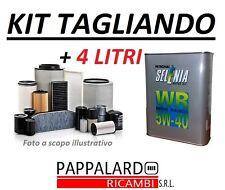 KIT 4 FILTRI TAGLIANDO + OLIO SELENIA 5W40 FIAT STILO 1.9 JTD DAL 2003 IN POI