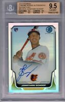 "2014 Bowman Chrome RC Auto Ref..""Jonathan Schoop"" .RC @LOOK@ BGS 9.5/10 Auto Hot"