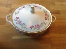 REDUCED R.Ginori( Italy )1 Large Twin Handled&Lidded Tureen Pink & Purple Floral