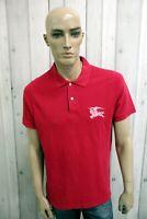 BURBERRY LONDON Uomo T-Shirt Maglia Maglietta Casual Polo Manica Corta Taglia XL