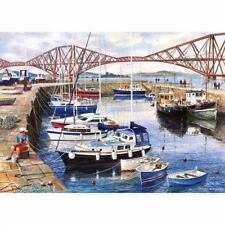 GIBSONS QUEENSFERRY HARBOUR 1000 PIECE TERRY HARRISON JIGSAW PUZZLE G6127 NEW