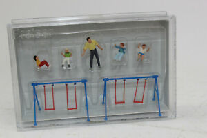 Preiser 10630 5 Figurines Children on the Swing 1:87 H0 New Original Packaging