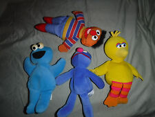 Sesame Street Ernie Big Bird Cookie Monster Grover Plush Soft Toy Stuffed Animal
