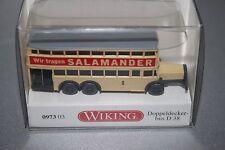 """Wiking 0973 03 Berliner Doppeldeckbus D38 """"Salamander"""" 1:160 Spur N OVP"""