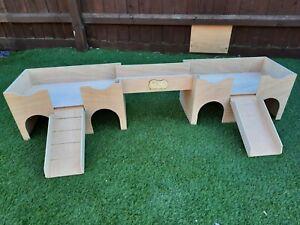 Double Guinea Pig Castle. With connecting Bridge. ( my original designs)