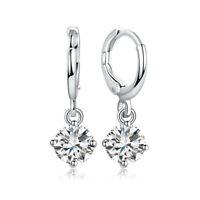 Fashion Women 1Pair Drop Dangle Crystal Cubic Zirconia Ear Hoop Earrings Jewelry