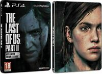 THE LAST OF US PART II STEELBOOK LIMITED  NAUGHTY DOG GAME PLAYSTATION 4