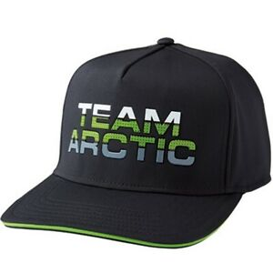 Arctic Cat Performance Structured Shape Fitted High Crown Wide Brim Cap - Black