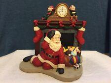 1998 Howard Miller Down The Chimney Santa Christmas Clock Holiday Decoration