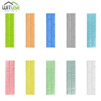 3D Wall Sticker Brick DIY PE Foam Panel 70*15cm For Home Room Kitchen Decor 0E1