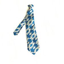VINTAGE MENS TIE NECKTIE FORMAL CASUAL CLIP ON MONSIEUR CRAVALIEUR BLUE SILVER