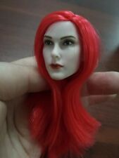 ddf0566c62e54 1 6 Scale Red Sonja Red Hair Head Model Toy For 12